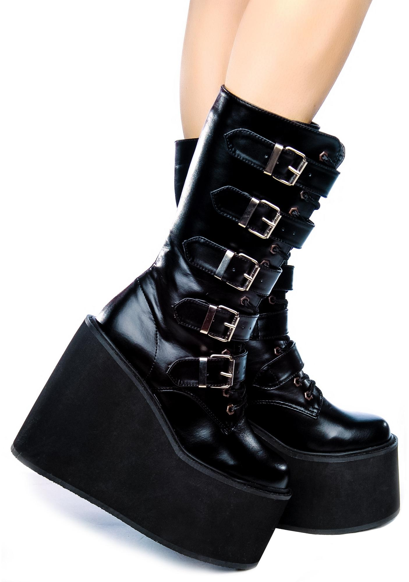 demonia swing platform boots dolls kill