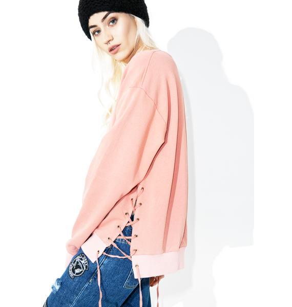 Fresh AF Lace Up Sweatshirt