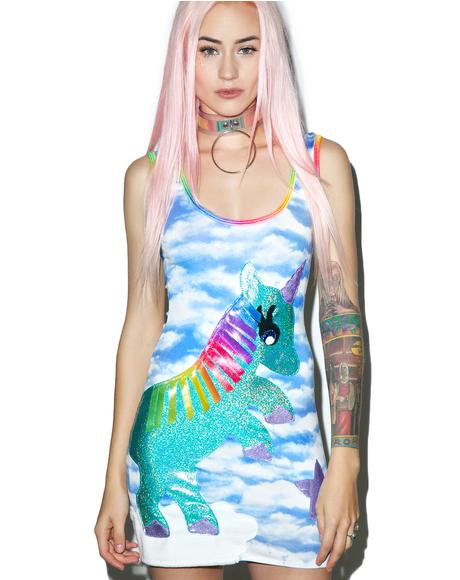 Unicorn Queen Bodycon Dress