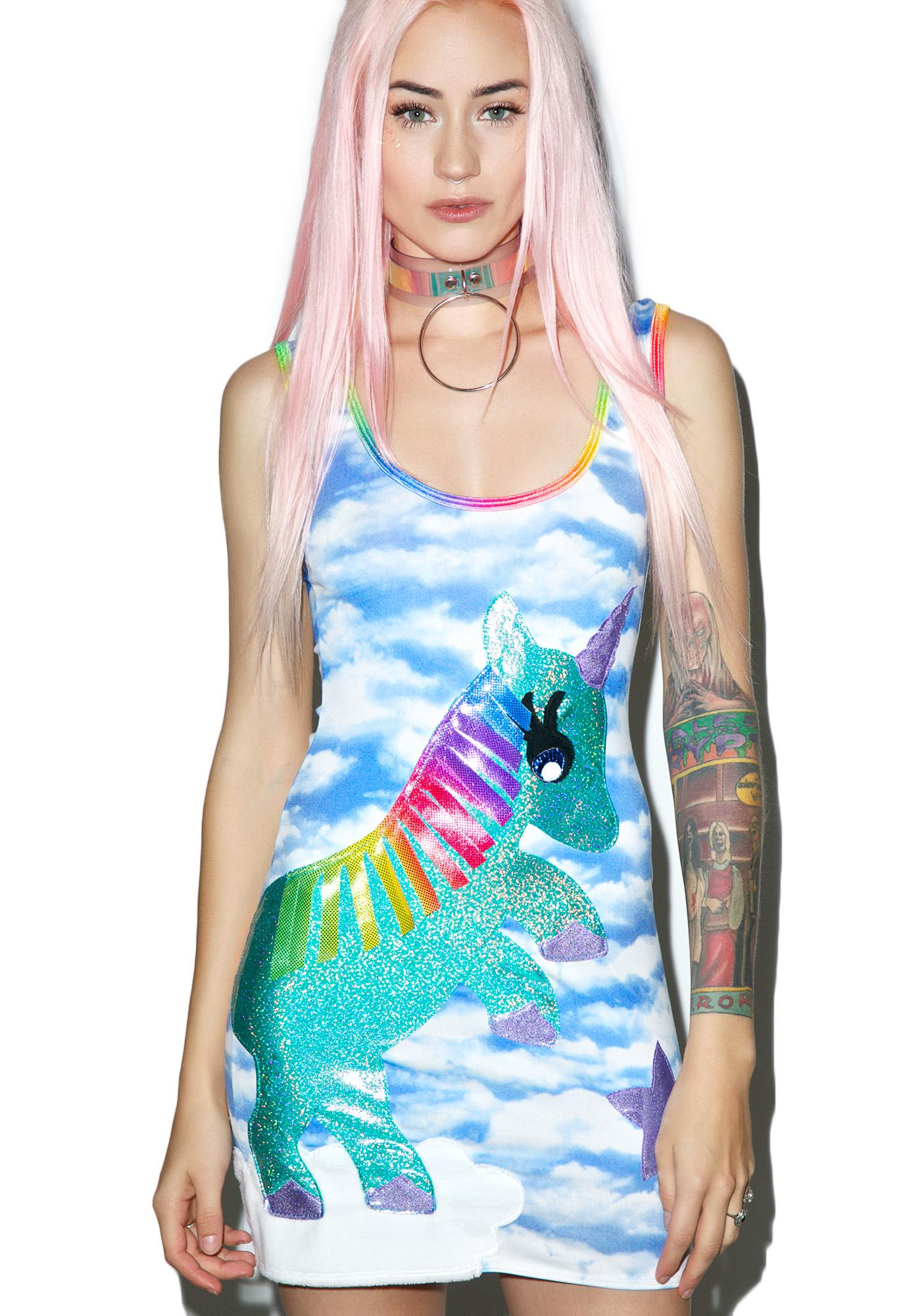 J Valentine Unicorn Queen Bodycon Dress