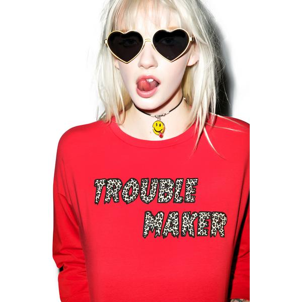 Valfré Trouble Maker Crop Sweatshirt