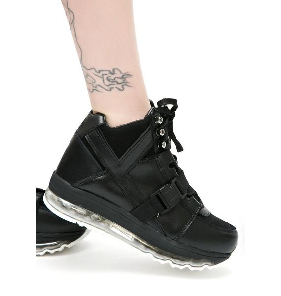 Y.R.U. Qozmo Aiire High Top Platform Sneakers