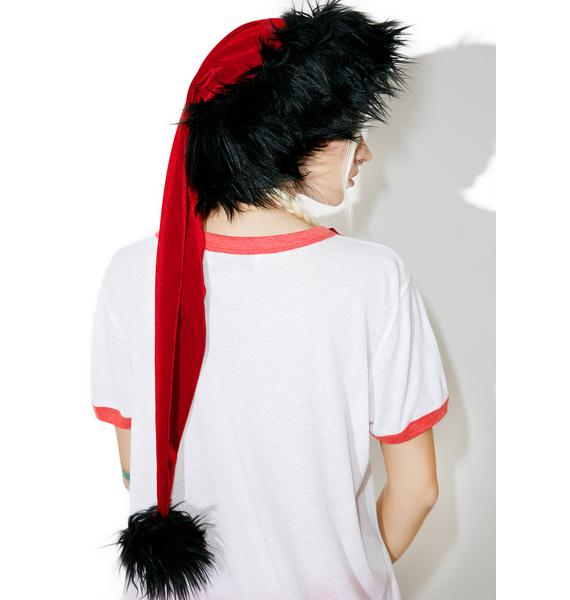 J Valentine Frightful Weather Santa Hat