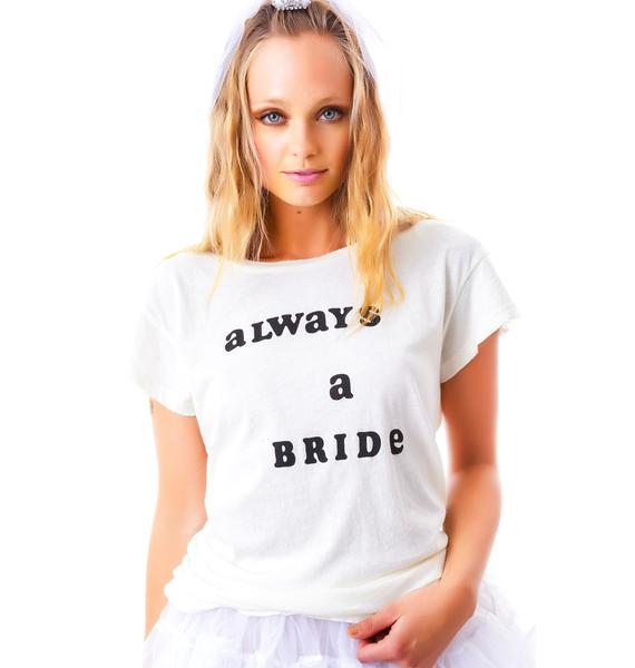 Wildfox Couture Never A Bridesmaid Cotton Jersey Hippie Crew