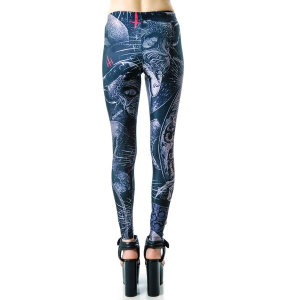 Disturbia Skull Leggings