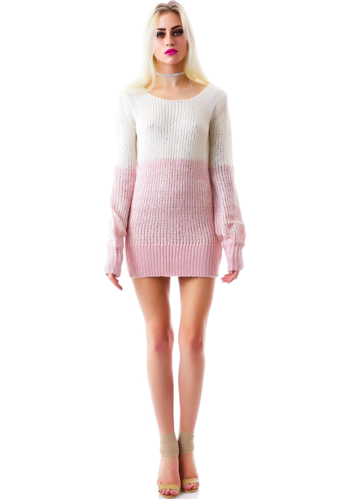 Peaches n' Cream Knit Sweater