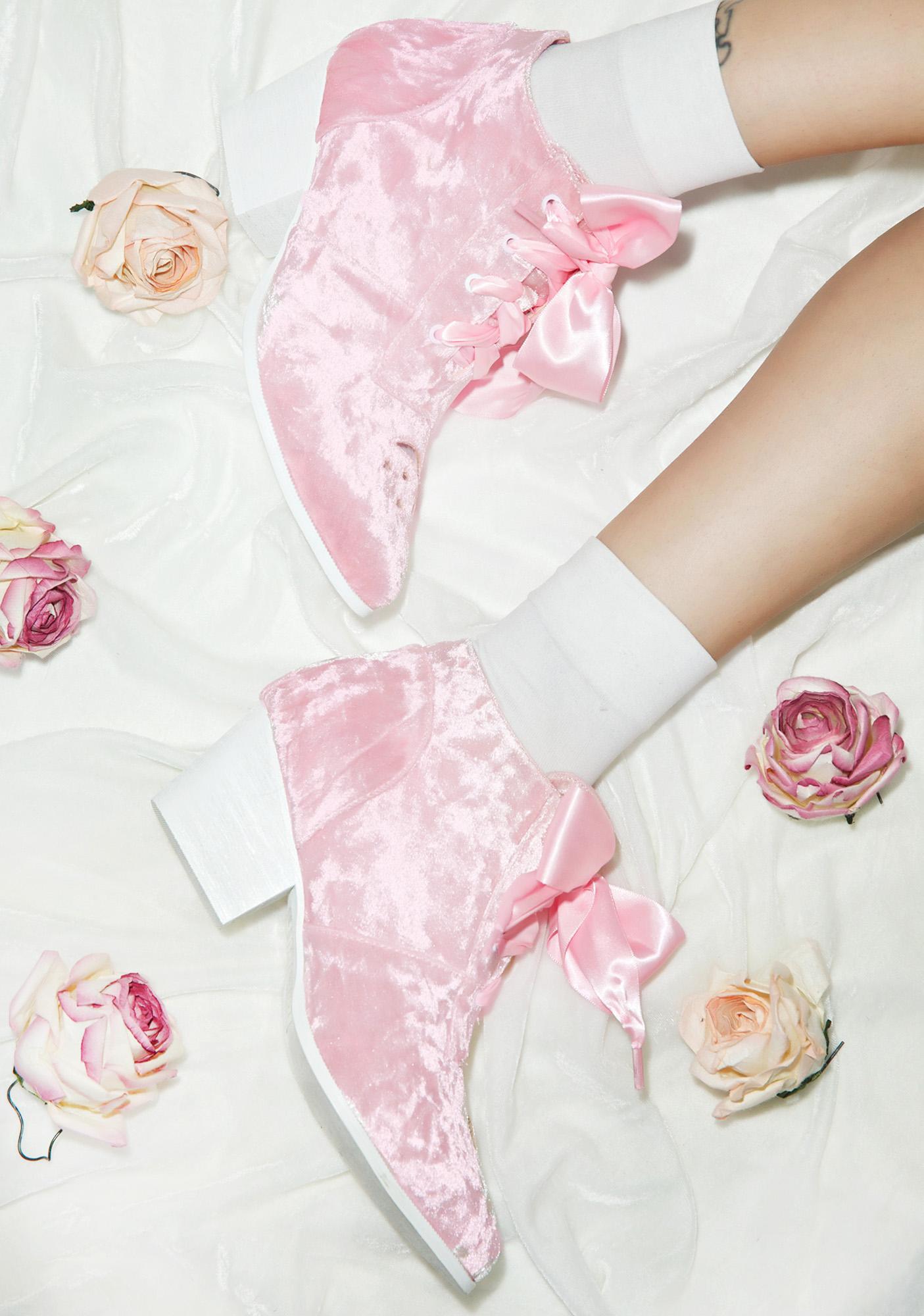 Y.R.U. Velvet Aura Lo Ankle Boots