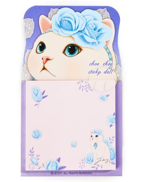 Choo Choo Blue Rose Sticky Memo Pad