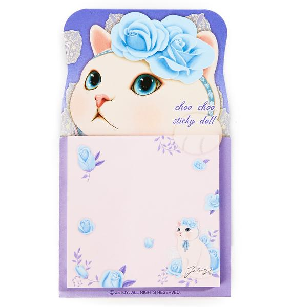 Jetoy Choo Choo Blue Rose Sticky Memo Pad