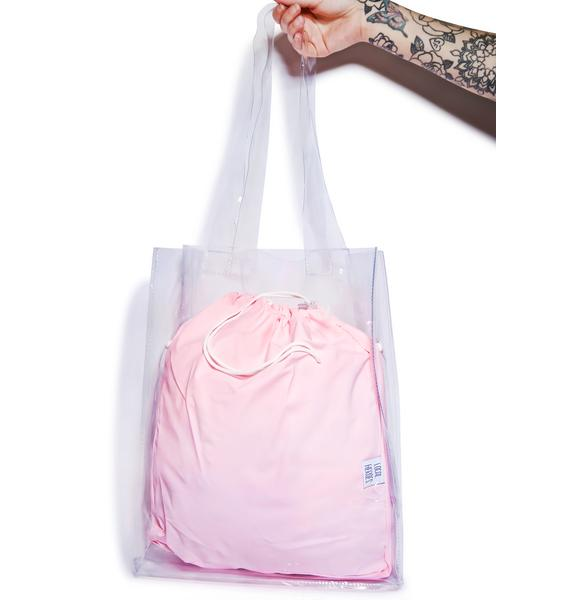 Local Heroes Pink Transparent Tote Bag