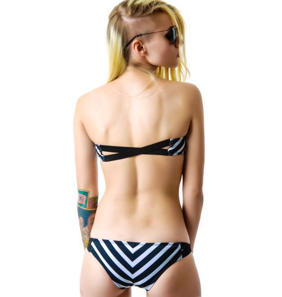 Tavik Striped Chevron Bikini