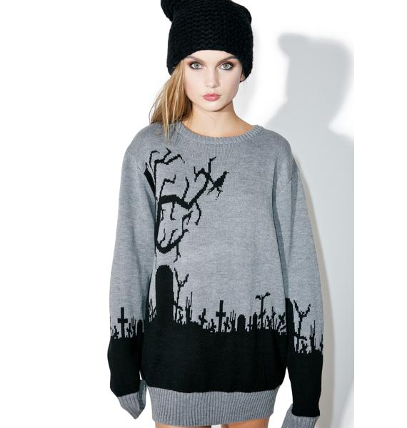 Current Mood Graveyard Riot Sweater