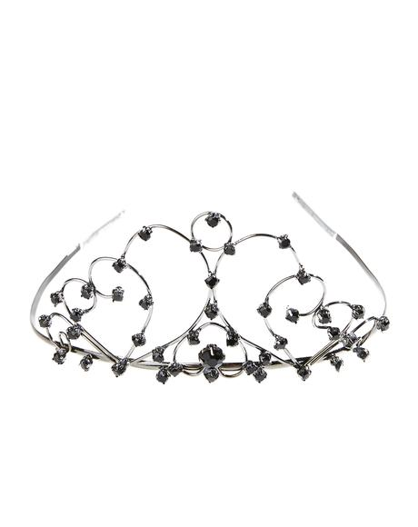 Midnight Swan Tiara