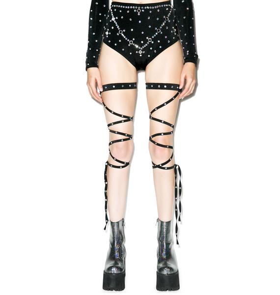 Diamonds They Gleamin' Leg Straps