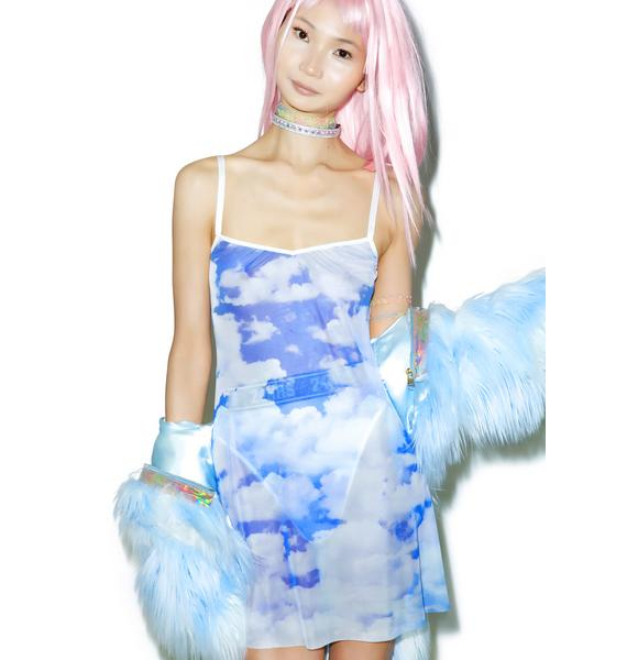 24HRS X Dolls Kill Caught In Da Clouds Dress