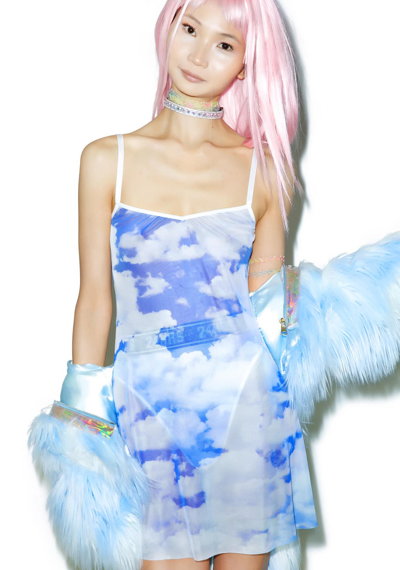 24HRS X Dolls Kill Caught In Da Clouds Dress