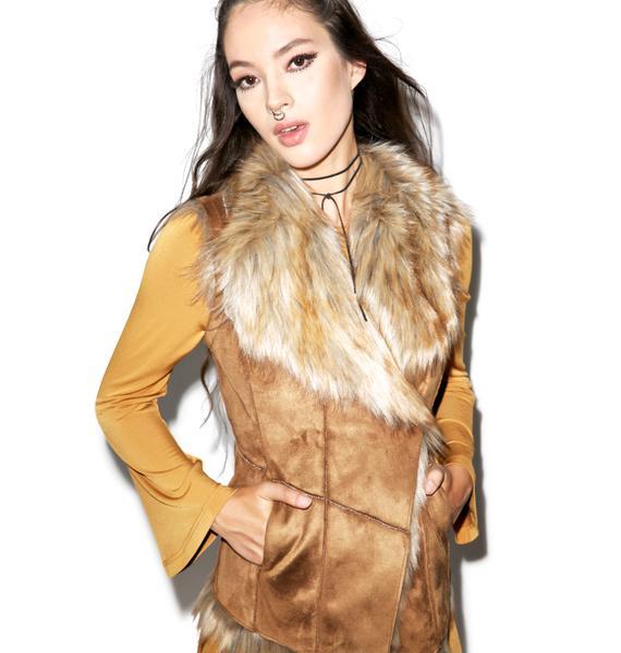 Glamorous Wild Frontier Faux Fur Vest