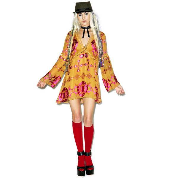 For Love & Lemons Barcelona Mini Dress