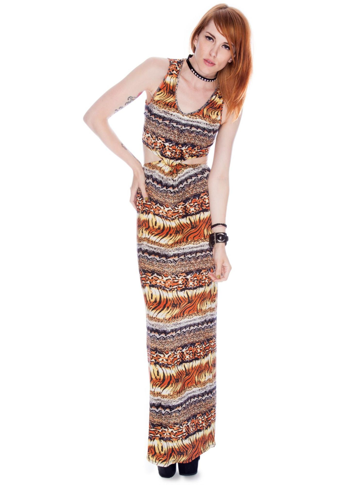 by Ronny Kobo Blair Multi Skin Knot Dress