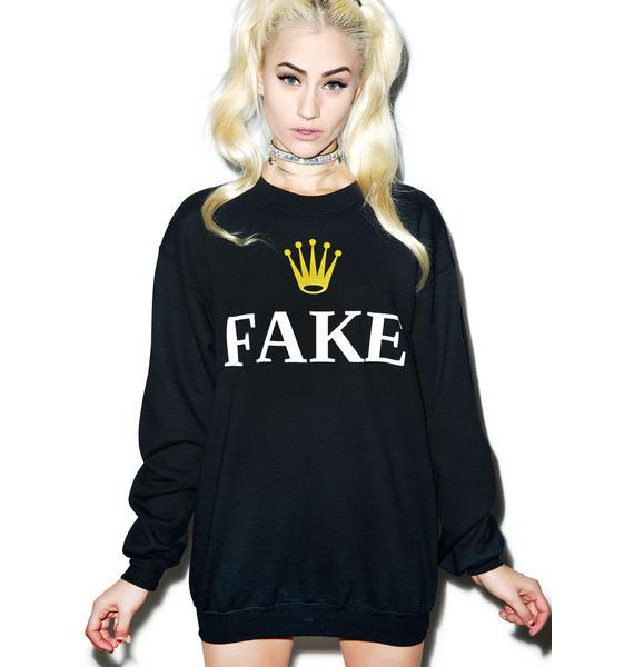 Petals and Peacocks Fake Folex Sweatshirt