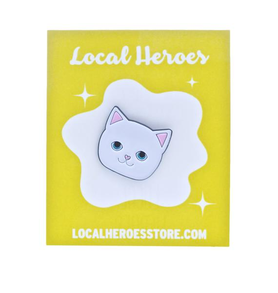 Local Heroes Cat Face Pin