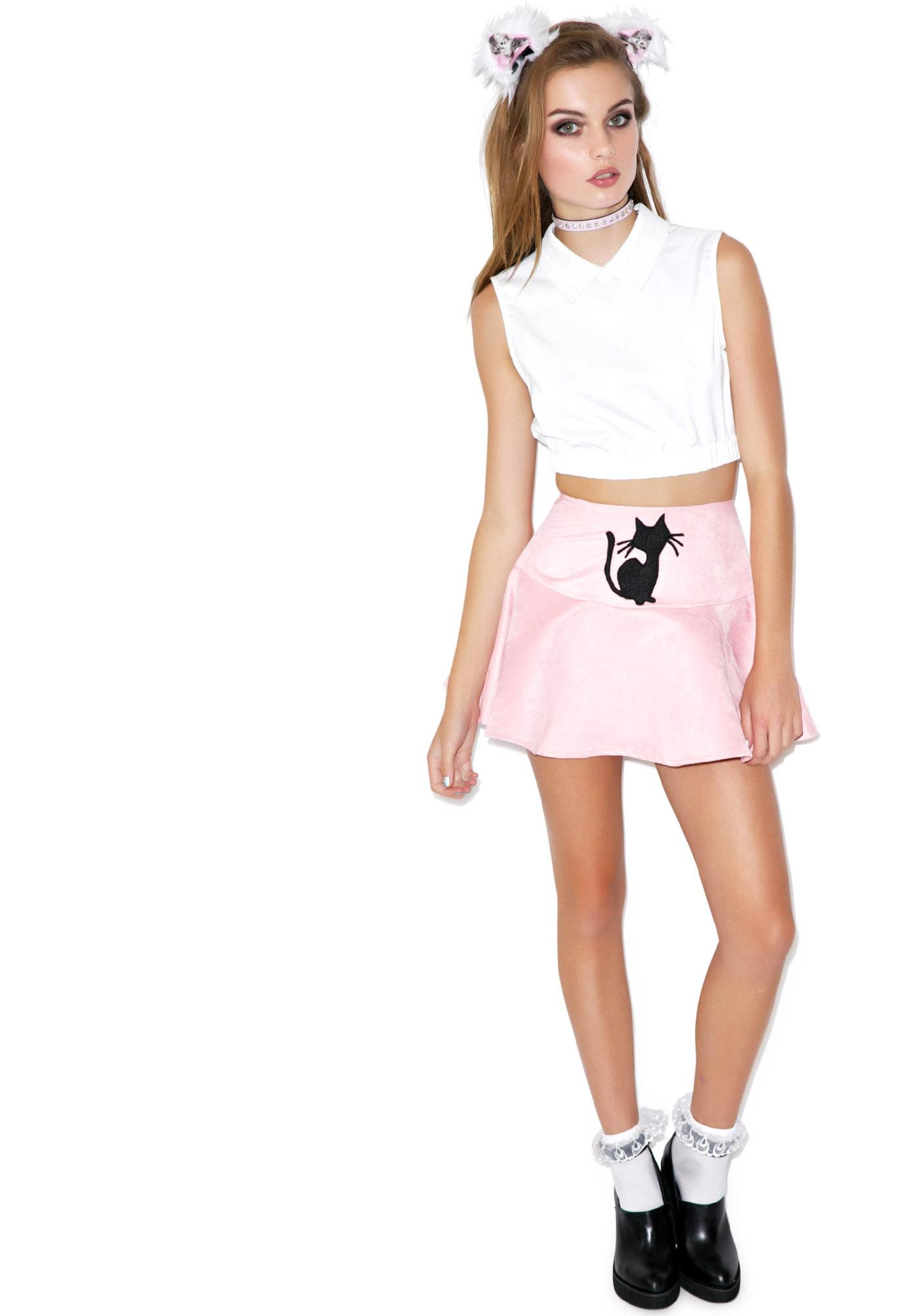 Sassy Cat Flip Skirt