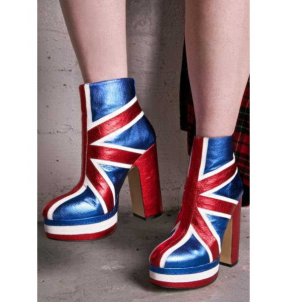 Shellys London Union Jack Boots