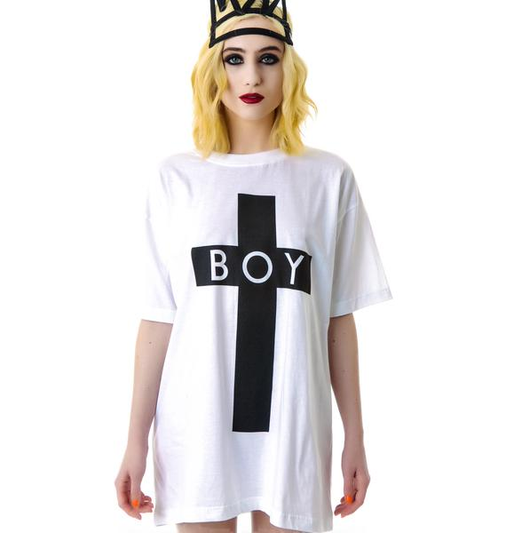 Long Clothing x BOY London Boy Cross Oversized Tee