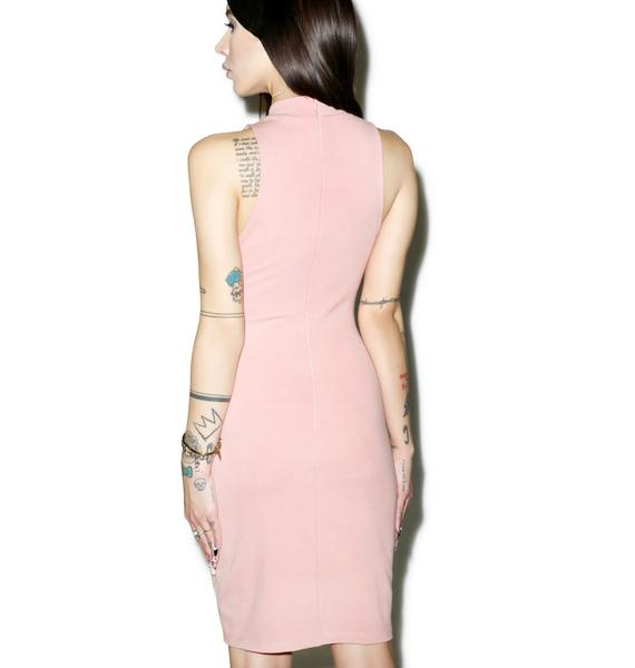 Rose Quartz Cutout Midi Dress