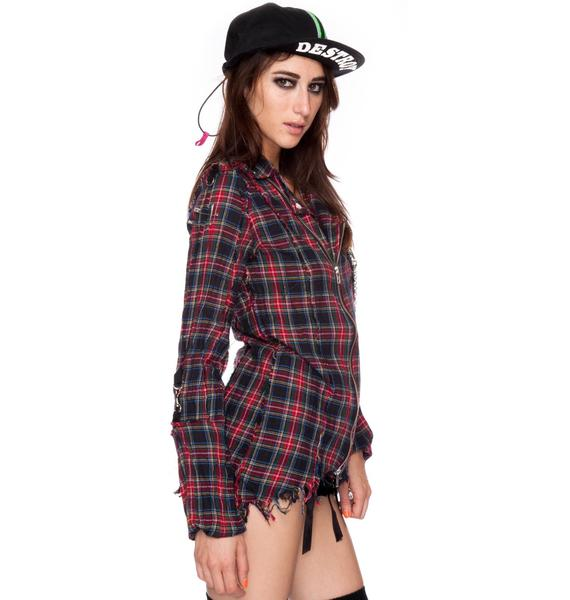 Plaid DIY Punk Shirt