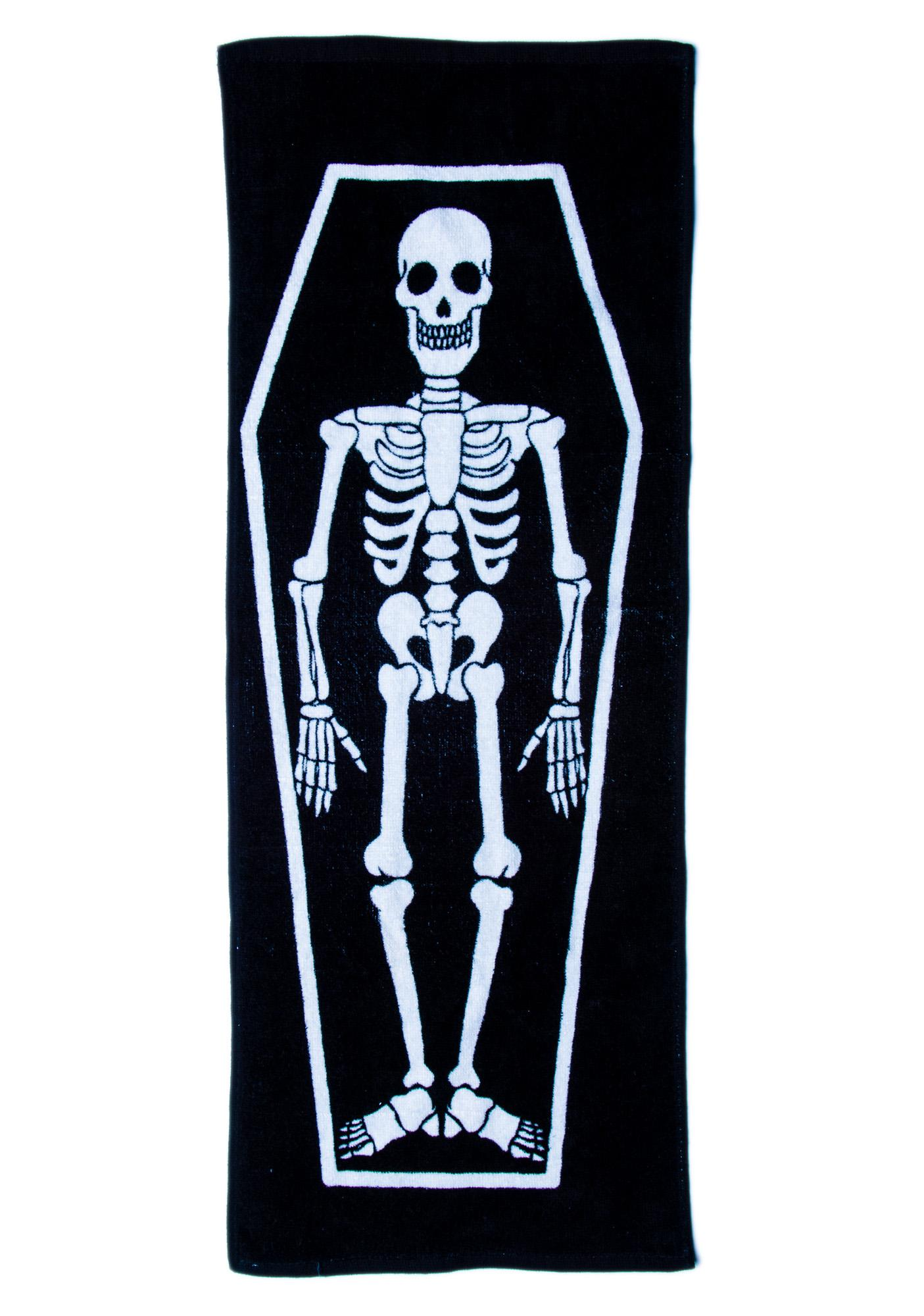 Skeleton in My Coffin Kitchen Towel