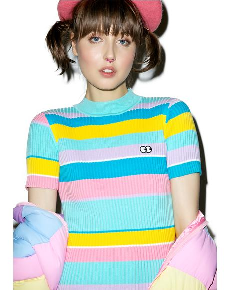 Rainbow Knit Tee