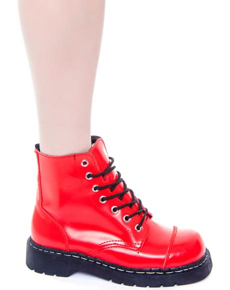 7 Eye Cap Toe Boot