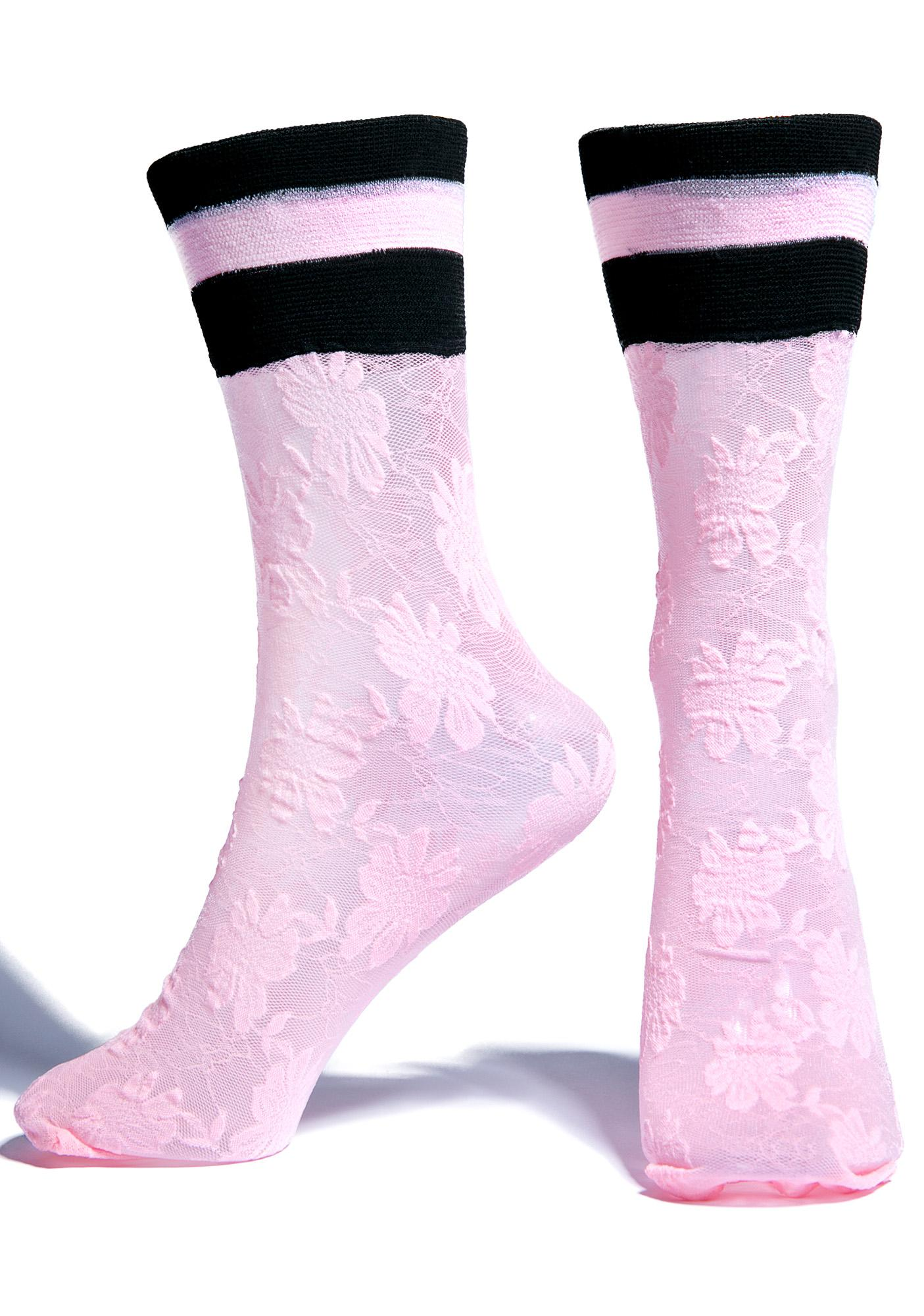 Stance Lace Trouser Socks cuz each step with yew is sweeter than the next, bb. These charming lace socks were designed with Rihanna and feature a sweet, sheer floral design with a rugby-striped crew that'll always stay upright whether yer tip-toeing or stepping as an IT tentrosegaper.ga: Stance.