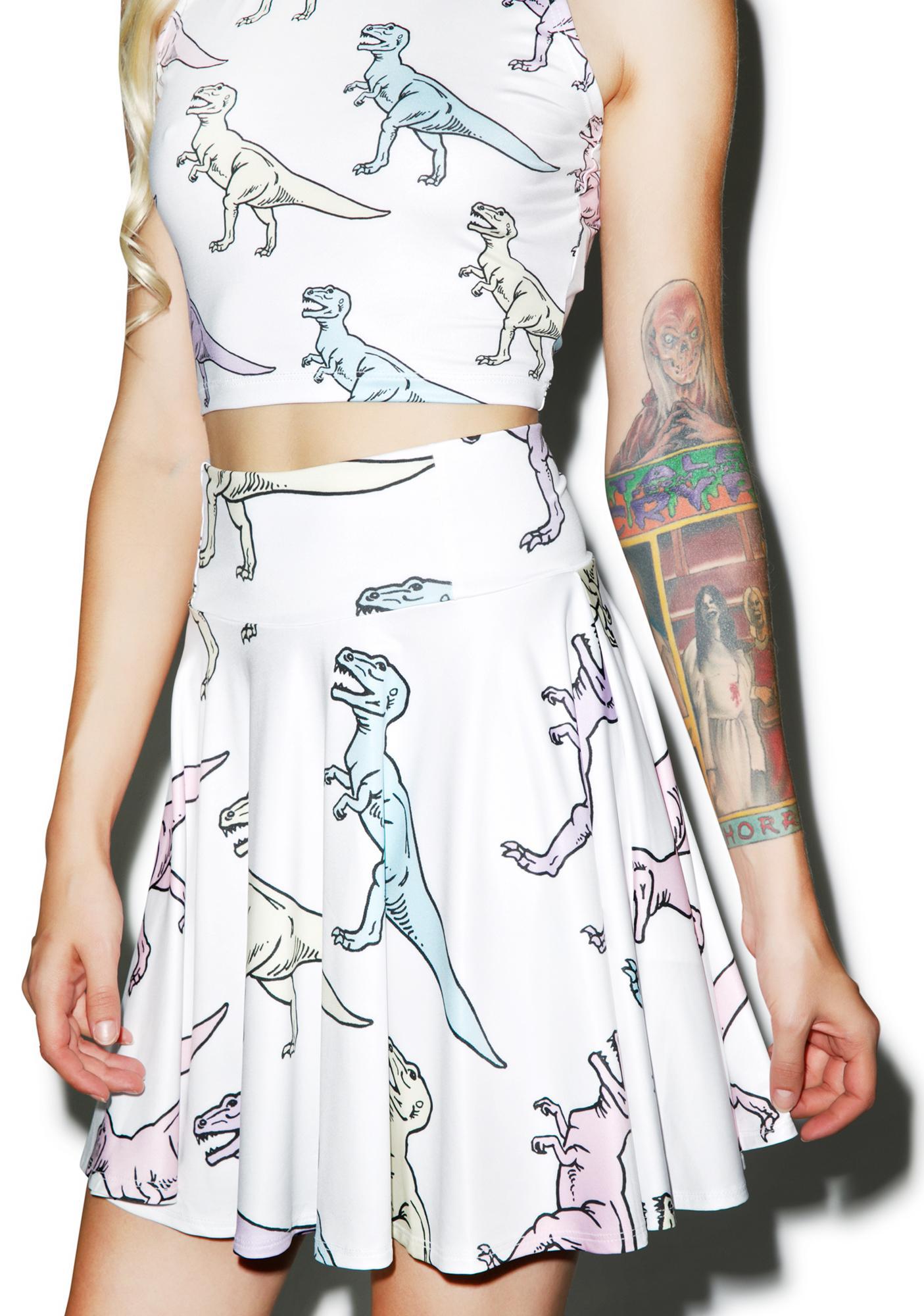 Sugarpills Dino Skater Skirt