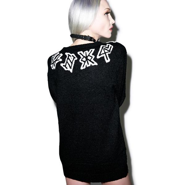 UNIF Logo Neck Sweater