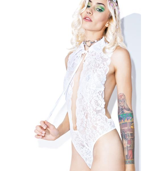 Hot as Hell Ivory Make It Snappy Bodysuit