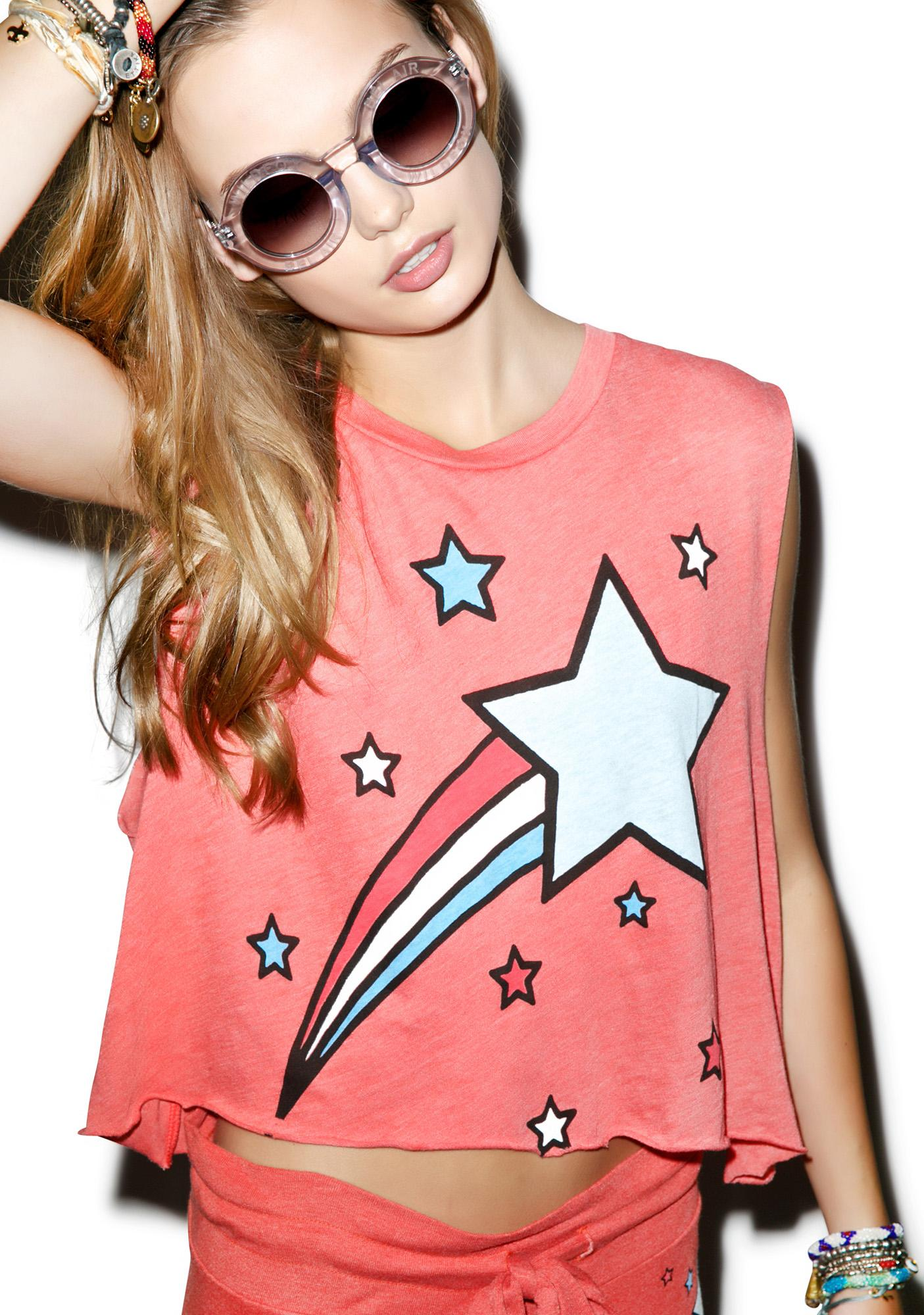 Wildfox Couture Shooting Stripes Chad Tank
