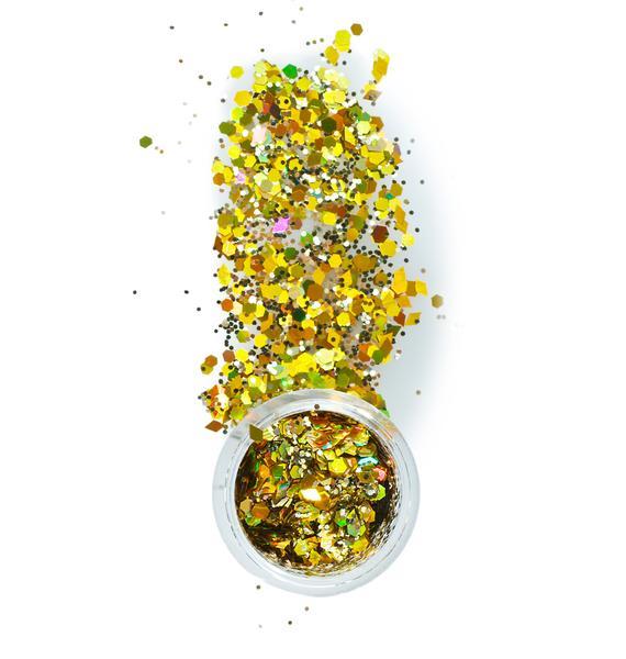 The Gypsy Shrine Chunky Gold Mix Face Glitter