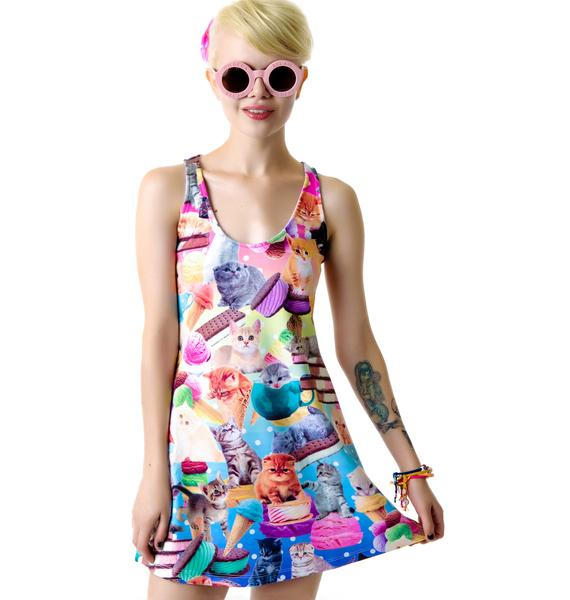 Japan L.A. Kittens Ice Cream Tank Dress