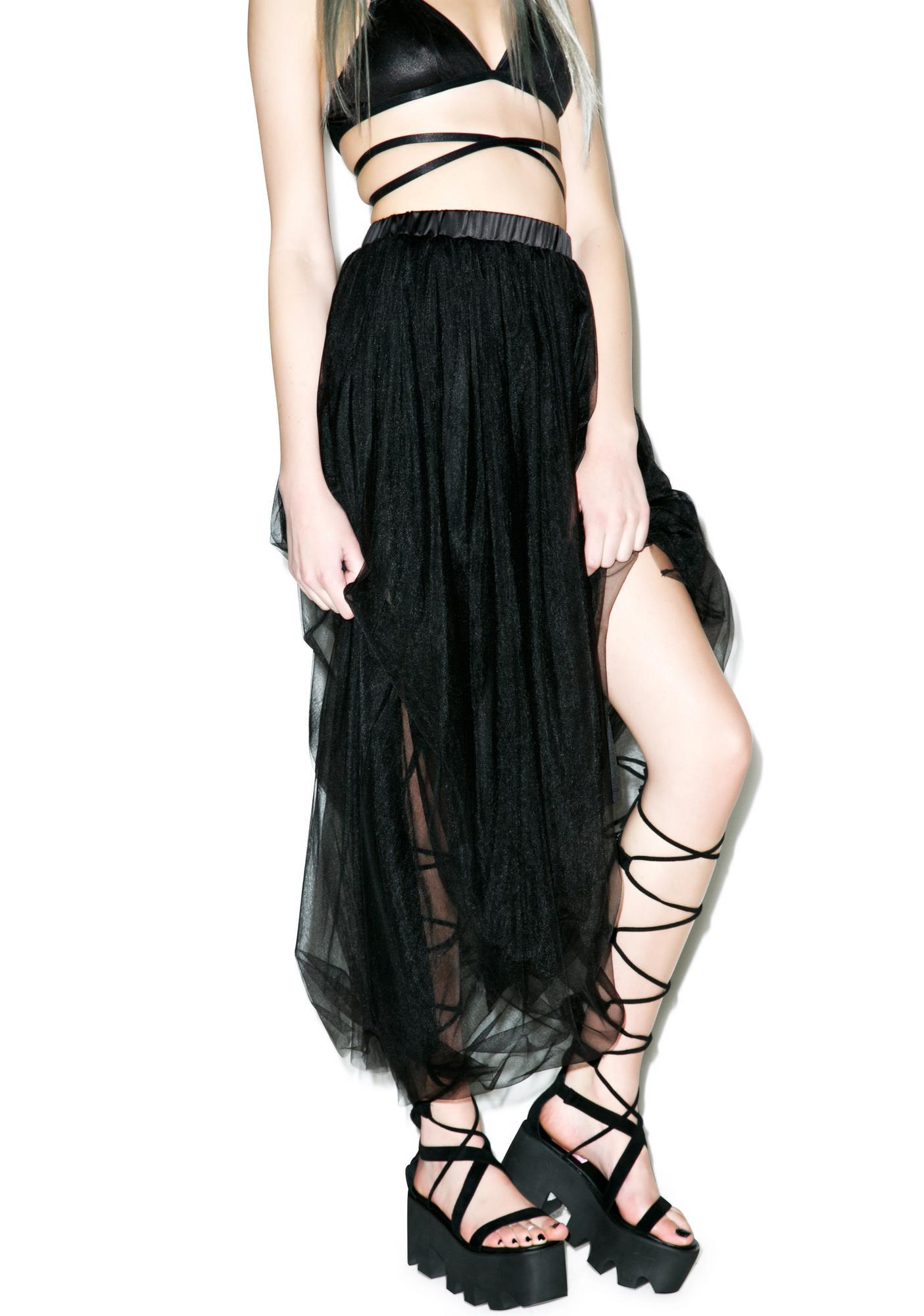 Dim Hope Tulle Maxi Skirt