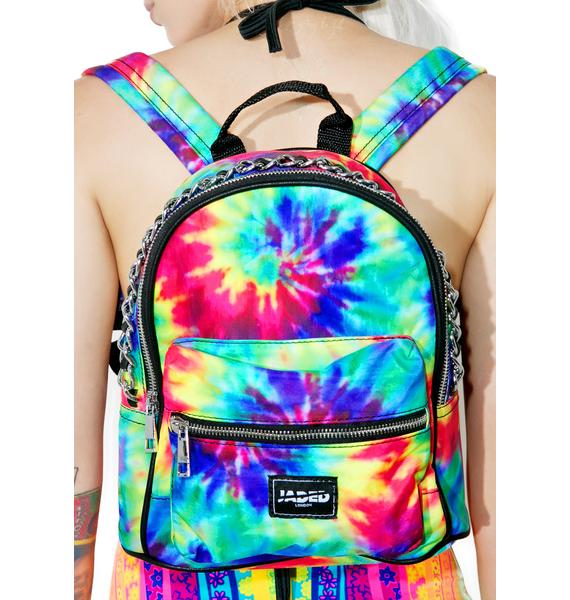 Jaded London Chained Tie Dye Mini Backpack