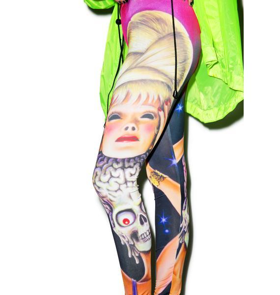 Kreepsville 666 Mars Attacks Spy Girl Leggings