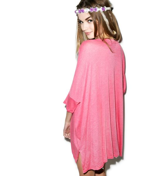 Wildfox Couture Elephant Goddess Sunday Morning V-Neck Tee