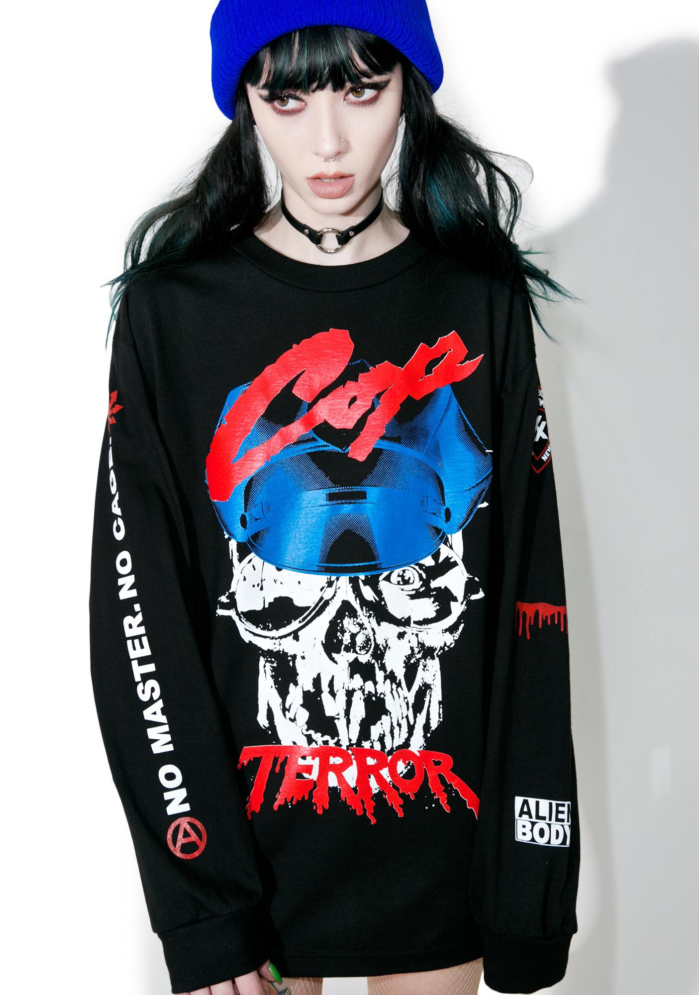 Cop Terror Long Sleeve Tee