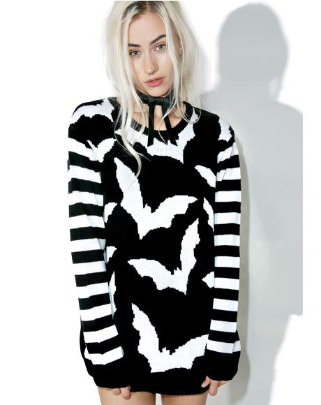 Bat Stripe Sweater