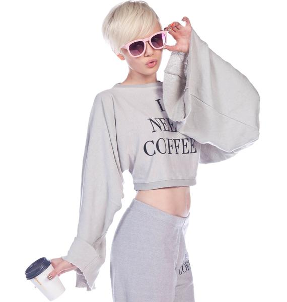 Wildfox Couture Desperate Mornings Angel Crop Sweater