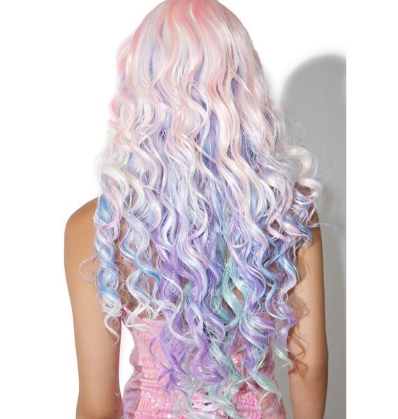 Rockstar Wigs Rainbow Rock Curly Wig