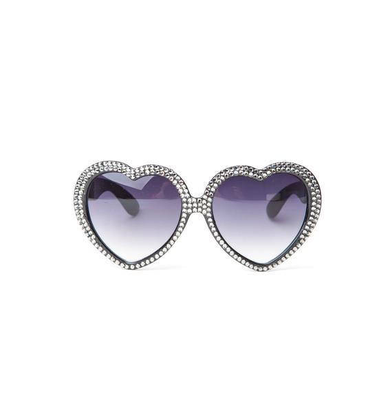 Marialia Silver Swarovski® Heart Sunglasses