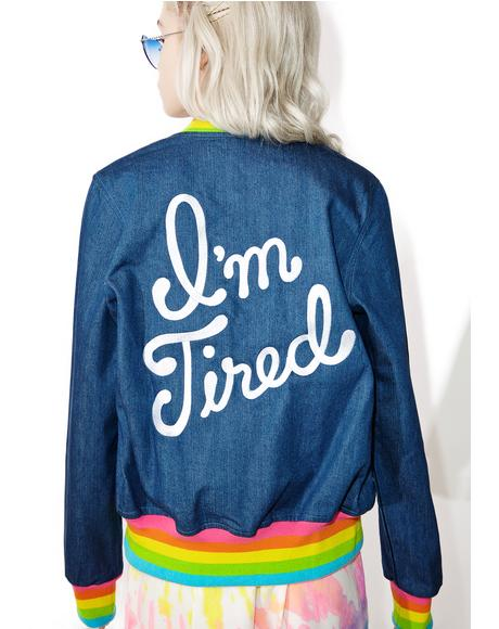 I'm Tired Denim Jacket